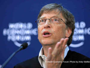 Bill Gates | © von World Economic Forum /Photo by Andy Mettler [CC BY-SA 2.0], via Wikimedia Commons