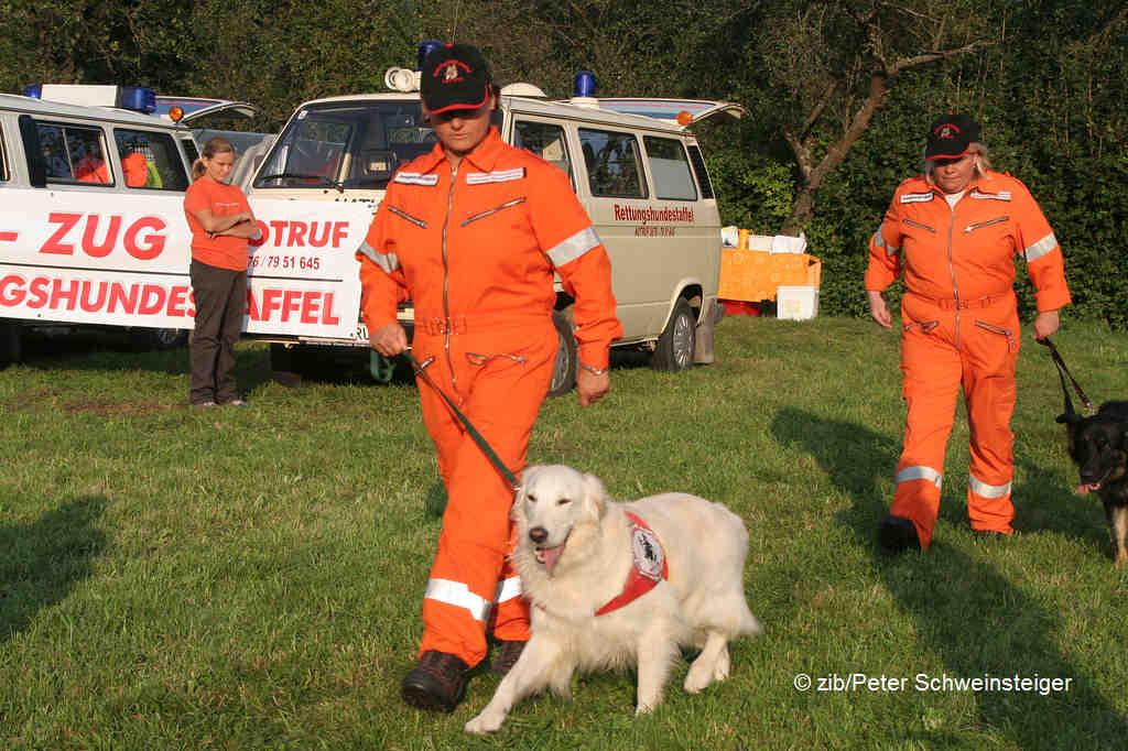Rettungshunde beim Showeinsatz in Furth | © zib