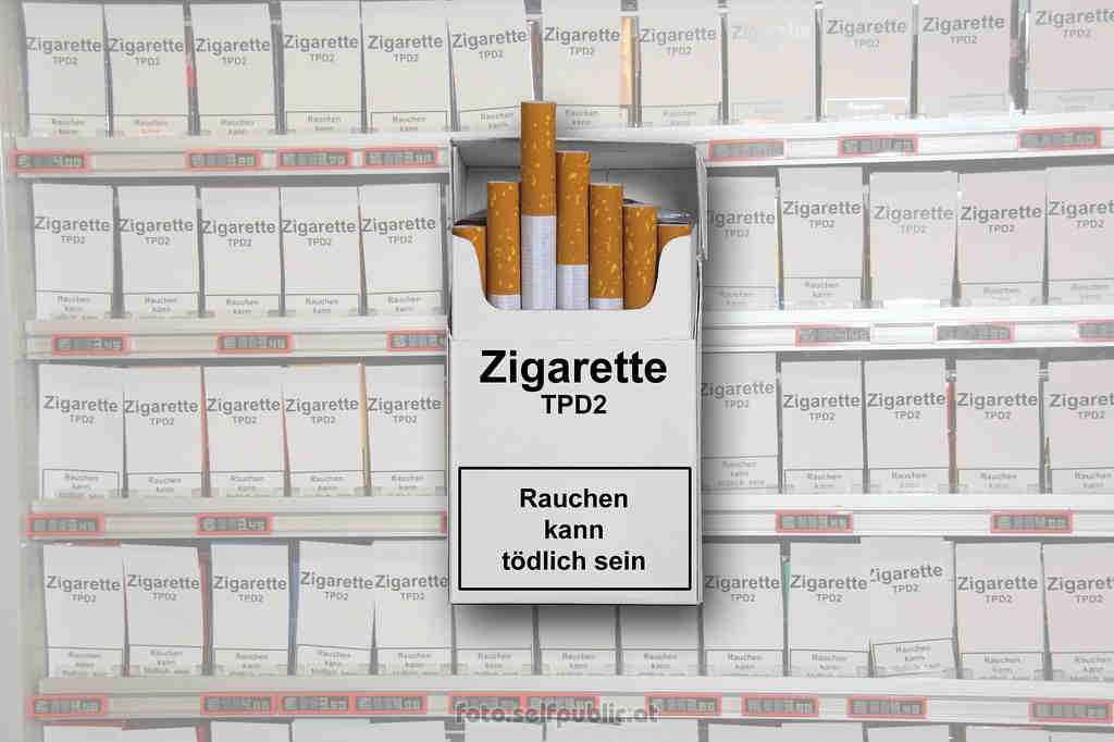 Geplante Veränderungen im Tabaksektor: Trafikanten machen Ausmaß dieser umstrittenen Regelungen sichtbar Display Ban Plain Packaging Zigarettenpackungen