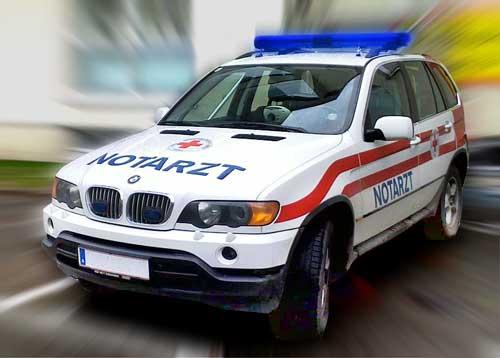 BMW E53, eines von zwei Notarzteinsatzfahrzeugen in Graz   ©: Jacktd