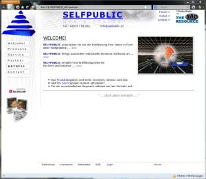 selfpublic.at im Oktober 2002