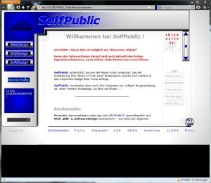 Unsere Seite in einer FLASH Version! 2002 wurde damit bewiesen das man eine ganze Website als FLASH Film anlegen kann.