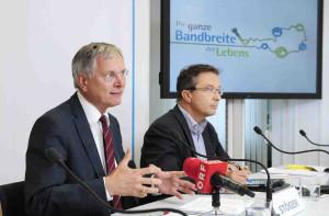 Infrastrukturminister Alois Stöger präsentierte den Start des Breitbandförderprogramms | ©: Zinner/BMVIT