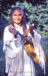 """J.Reuben Silverbird im """"Indian Village"""" Schönau (1999)"""