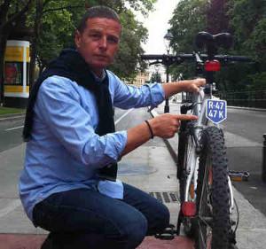 Fahrrad Nummerntaferl   ©: Luke und Toni Mahdalik