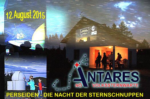 Am 12. August 2015 - die Perseiden-Nacht | ©: ANTARES, Mag. Paul Beck ua. | Montage: zib