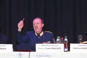 Landespolizeidirektor Hofrat Dr. Franz Prucher bei seiner emotionalen Rede