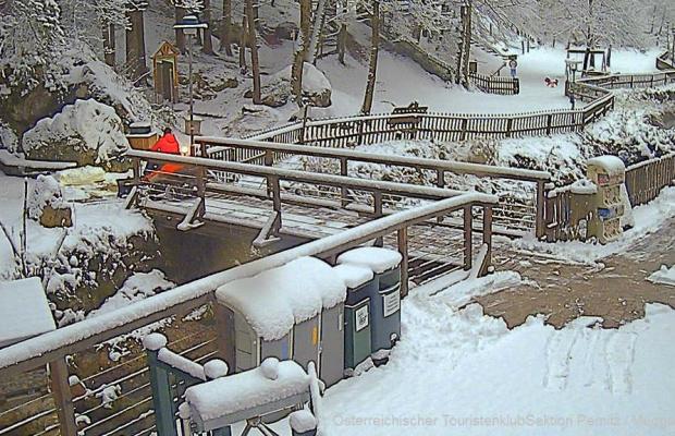 Webcam Myrafälle 26.11.2015 7:15   ©: Österreichischer TouristenklubSektion Pernitz / Muggendorf