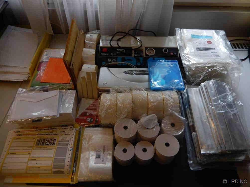 Sichergestellten Suchtmittel und Verpackungsmaterial