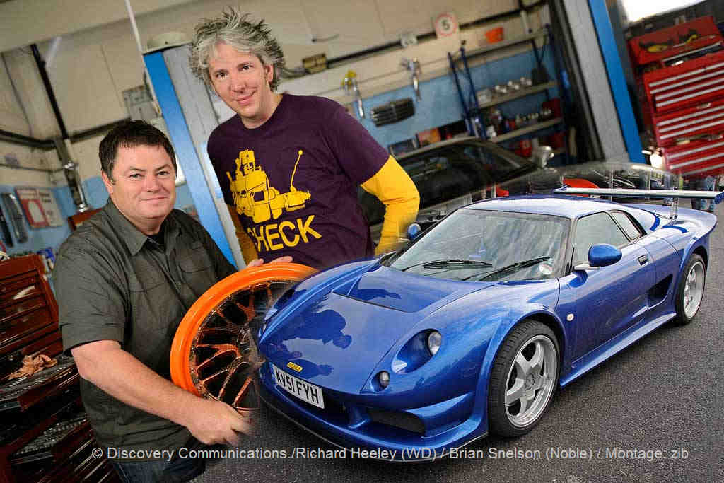 Mike Brewer und Edd China in Wheeler Dealers Staffel 12 mit einem Noble M12 GTO | © Richard Heeley (WD) / Brian Snelson (Noble) / Montage: zib