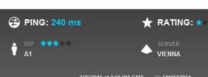 240 ms Ping zur Telekom - eine Ewigkeit...