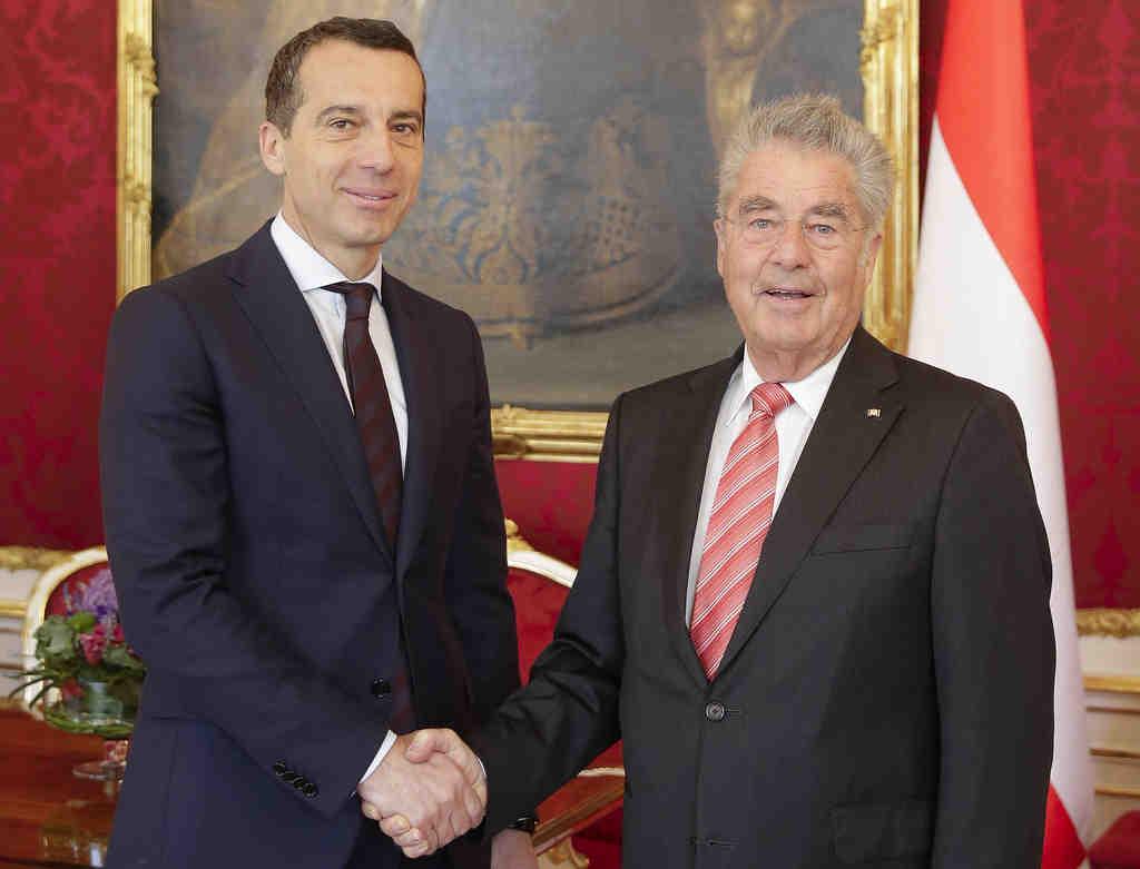 Bundespräsident Heinz Fischer mit Bundeskanzler Christian Kern | © Peter Lechner/HBF