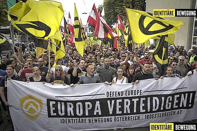 Identitären Demo Wien