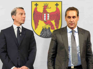 Bundeskanzler Christian Kern und HC. Strache