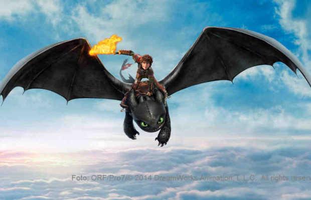 Hicks geht mit seinem Drachen Ohnezahn immer wieder auf Erkundungsflüge | Foto: ORF/Pro7/© 2014 DreamWorks Animation, L.L.C. All rights reserved