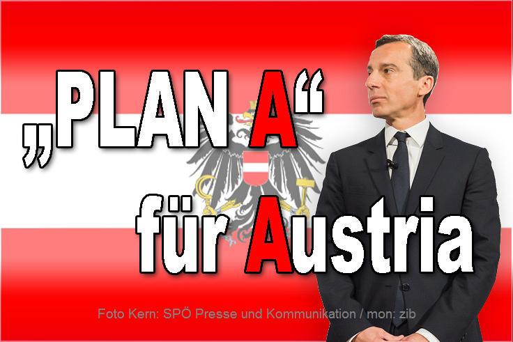 """Bundeskanzler Christian Kern präsentiert seinen """"Plan A"""""""