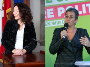Ingrid Felipe (li) und Ulrike Lunacek (re)