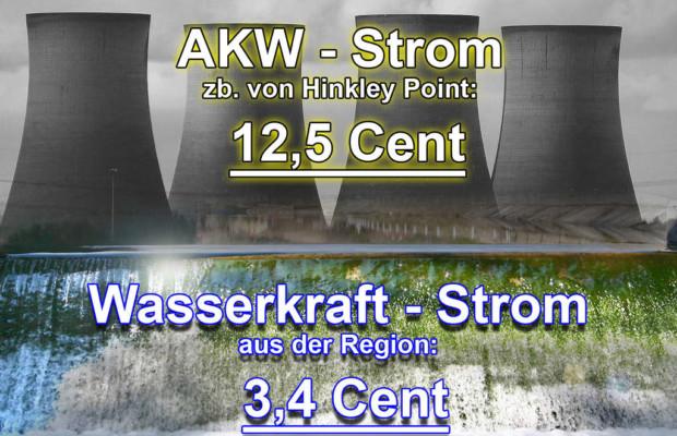 Atomstrom vs. Wasserkraft