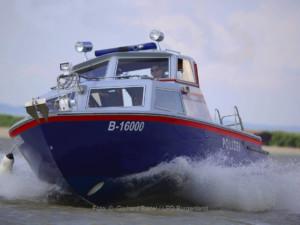 Motorbootstreife im Einsatz