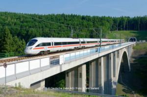 ICE T Baureihe 411 während einer Testfahrt im Thüringer Wald | © Deutsche Bahn AG / Foto: Frank Barteld
