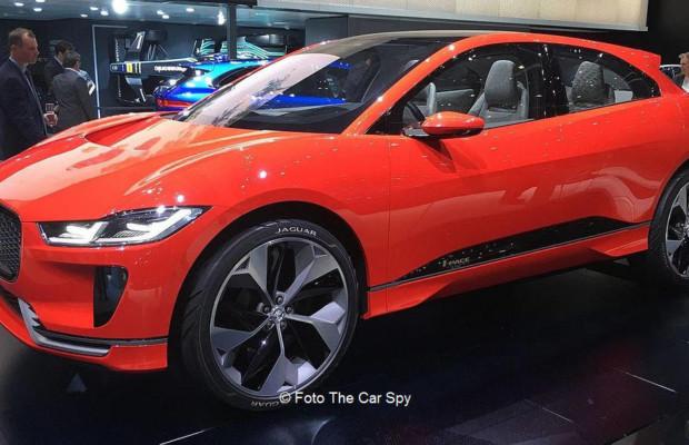 Jaguar I-PACE am Genfer Autosalon | © Foto von The Car Spy