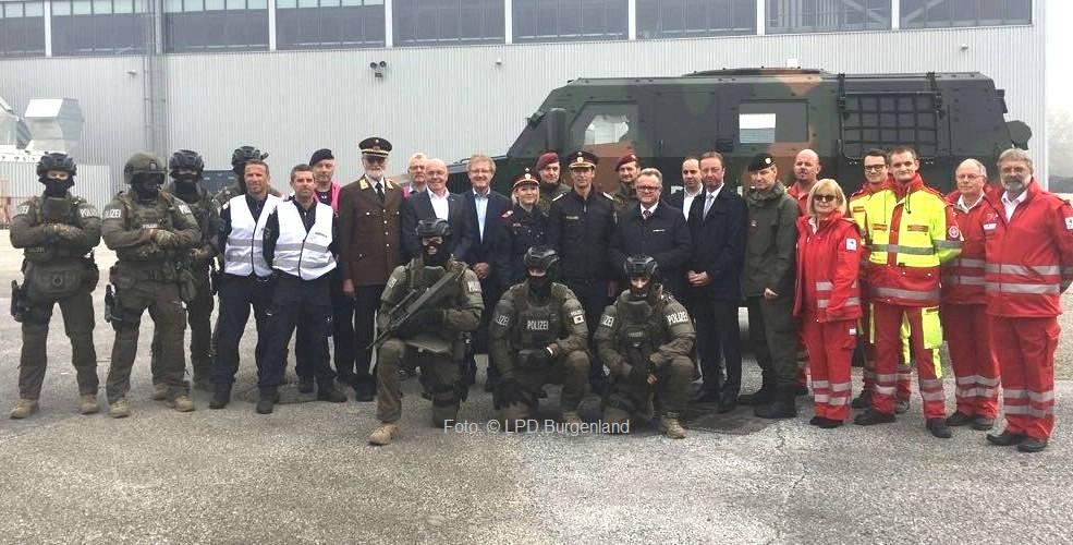 Antiterror-Übung der Polizeikräfte im Burgenland