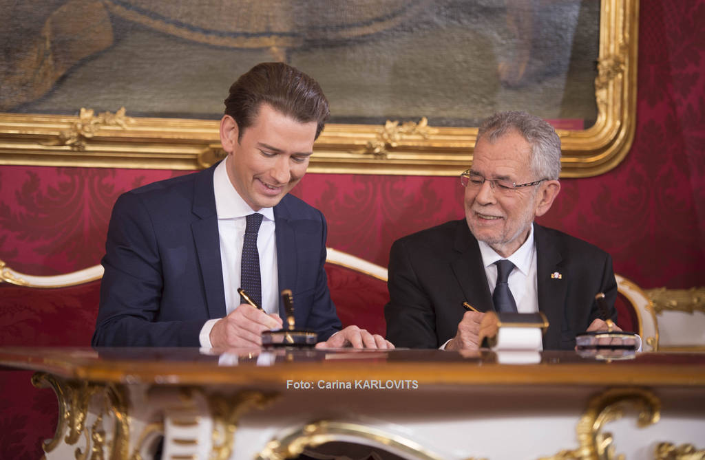 Bundeskanzler Sebastian Kurz bei der Angelobung | Foto: Carina KARLOVITS / © u. zvg. 2017 Österreichische Präsidentschaftskanzlei
