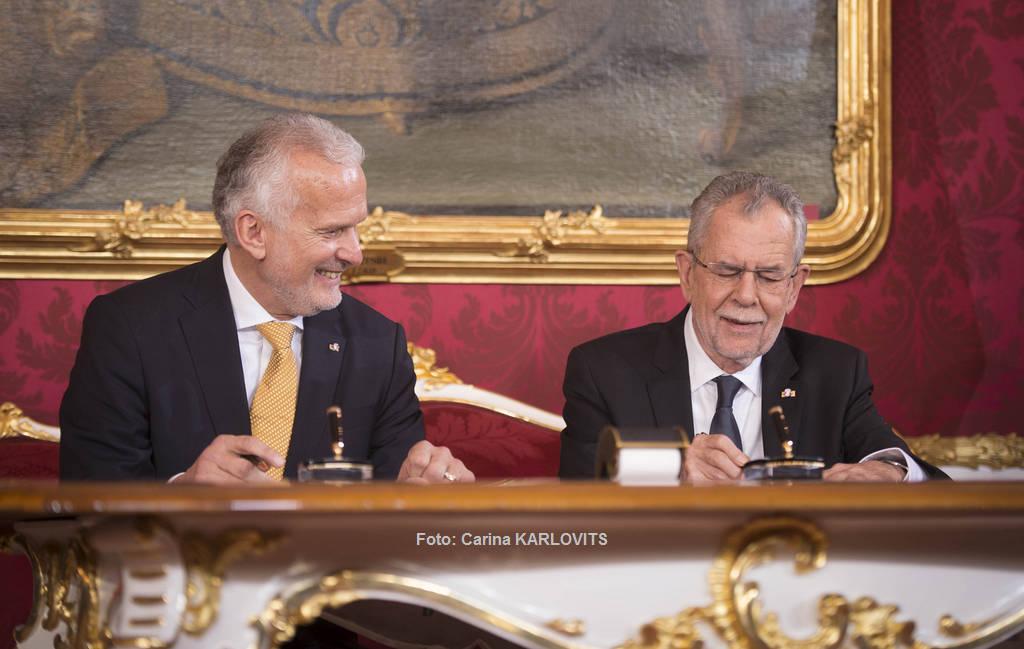 Der neue Bundesminister für Justiz, Josef Moser bei der Angelobung | Foto: Carina KARLOVITS / © u. zvg. 2017 Österreichische Präsidentschaftskanzlei