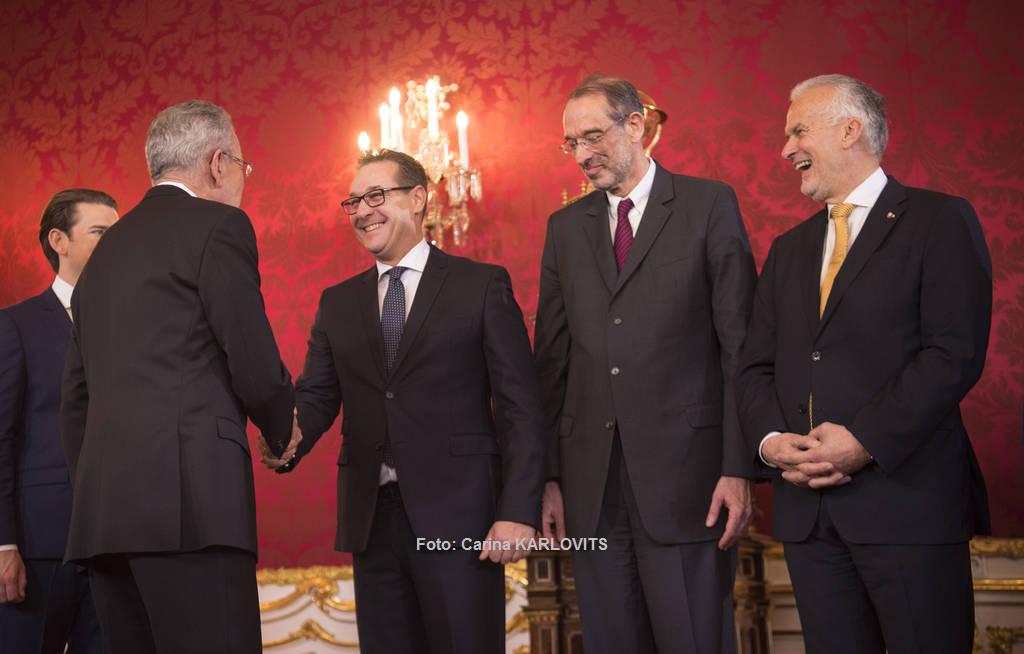 Vizekanzler H.C. Strache bei seiner Ernennung bzw. Angelobung | Foto: Carina KARLOVITS / © u. zvg. 2017 Österreichische Präsidentschaftskanzlei