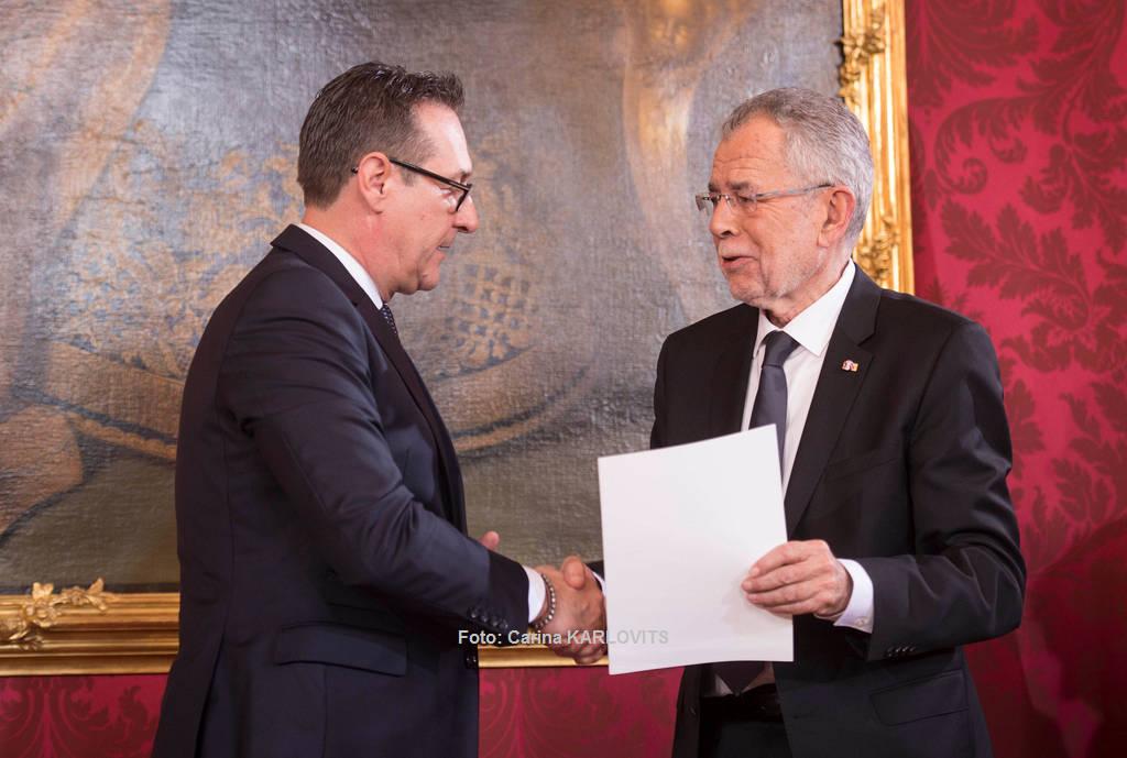 H.C. Strache ist nun Vizekanzler | Foto: Carina KARLOVITS / © u. zvg. 2017 Österreichische Präsidentschaftskanzlei