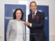 Dr. Eva Glawischnig wechselt zu NOVOMATIC. Hier mit Vorstandsvorsitzenden Mag. Harald Neuman | © NOVOMATIC / THOMAS MEYER