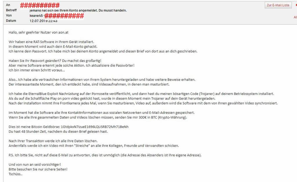 Mailaccount gehackt!?