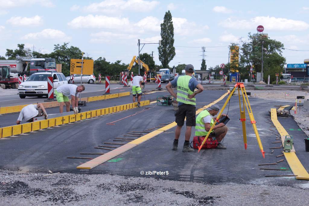 Kreisverkehr Umbau AST Leobersdorf
