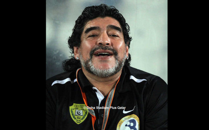 Diego Maradona *30.10.1960 †25.11.2020 | © Doha Stadium Plus Qatar, CC BY 2.0, via Wikimedia Commons