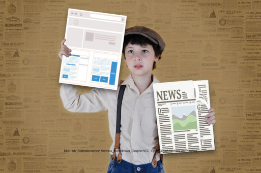 Printanzeige oder Online-Werbung - beides hat seine Vor- und Nachteile   Mon: zib; Bildmaterial von Victoria_Borodinova, GraphicsSC, OpenClipart-Vectors via Pixabay
